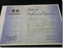 Oath of Professional Teachers